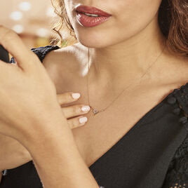 Collier Ilsabe Or Jaune Diamant - Colliers Coeur Femme   Histoire d'Or