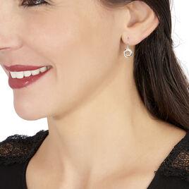 Boucles D'oreilles Pendantes Daphnee Or Tricolore Diamant - Boucles d'oreilles pendantes Femme | Histoire d'Or