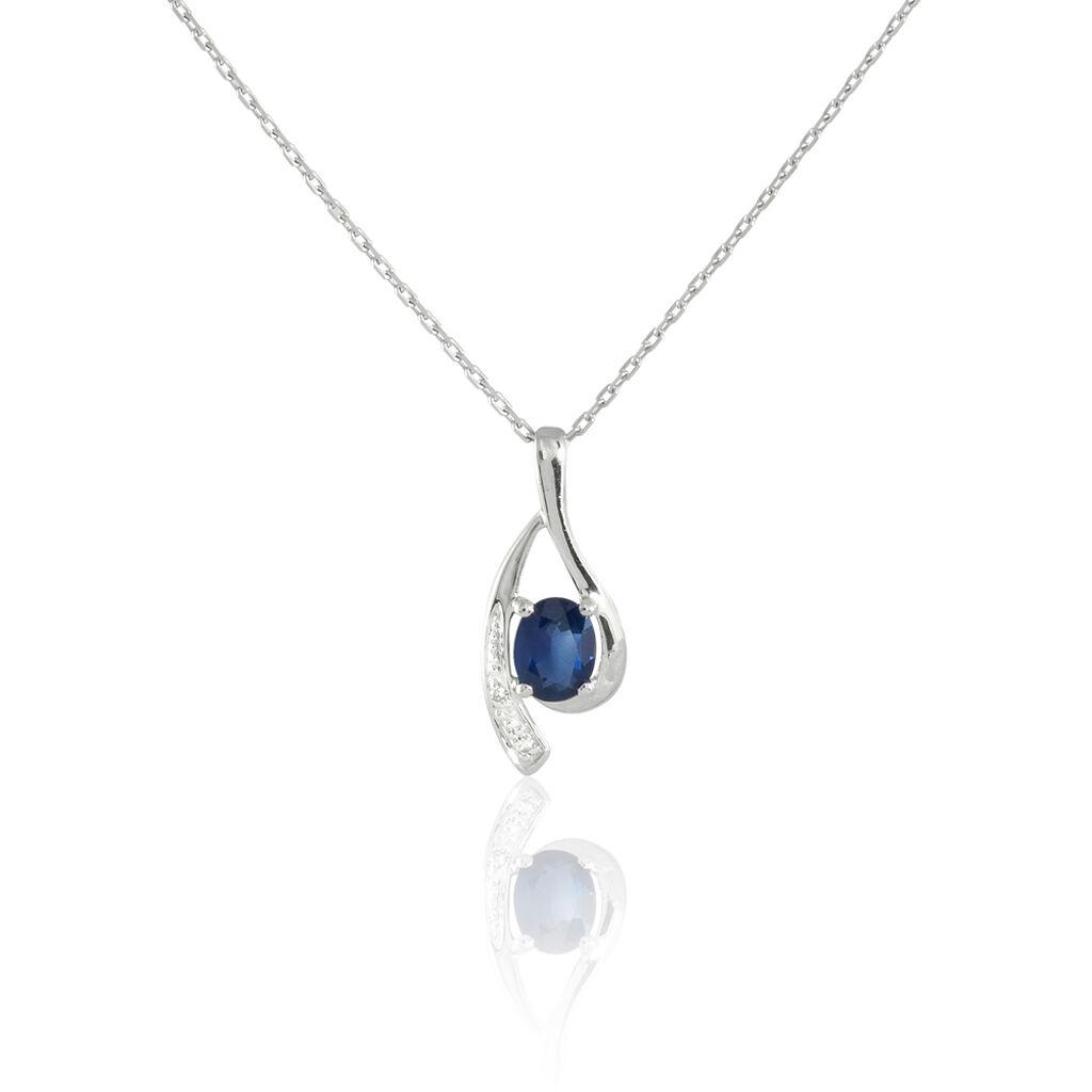 Collier Sagesse Or Blanc Saphir Et Diamant - Bijoux Femme | Histoire d'Or