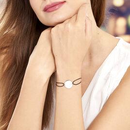Bracelet Pastille Gravable Or Blanc - Bracelets cordon Femme | Histoire d'Or