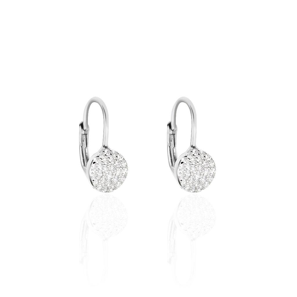Boucles D'oreilles Pendantes Fantine Argent Blanc Oxyde De Zirconium - Boucles d'oreilles fantaisie Femme | Histoire d'Or