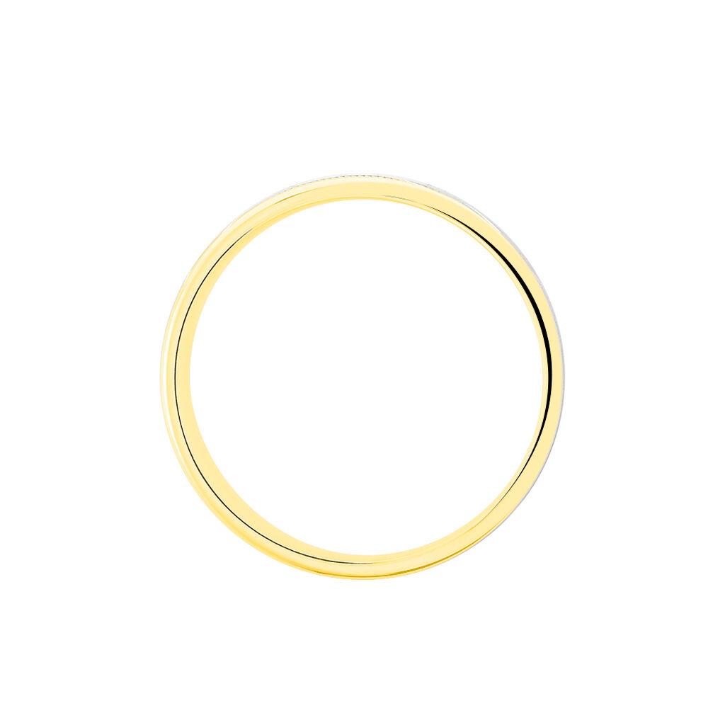 Alliance Mat Ruban Plat Or Bicolore - Alliances Unisexe | Histoire d'Or