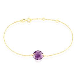 Bracelet Ludmille Or Jaune Amethyste - Bijoux Femme   Histoire d'Or