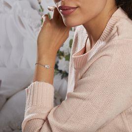 Bracelet Asnia Argent Blanc Oxyde De Zirconium - Bracelets Main de Fatma Femme | Histoire d'Or