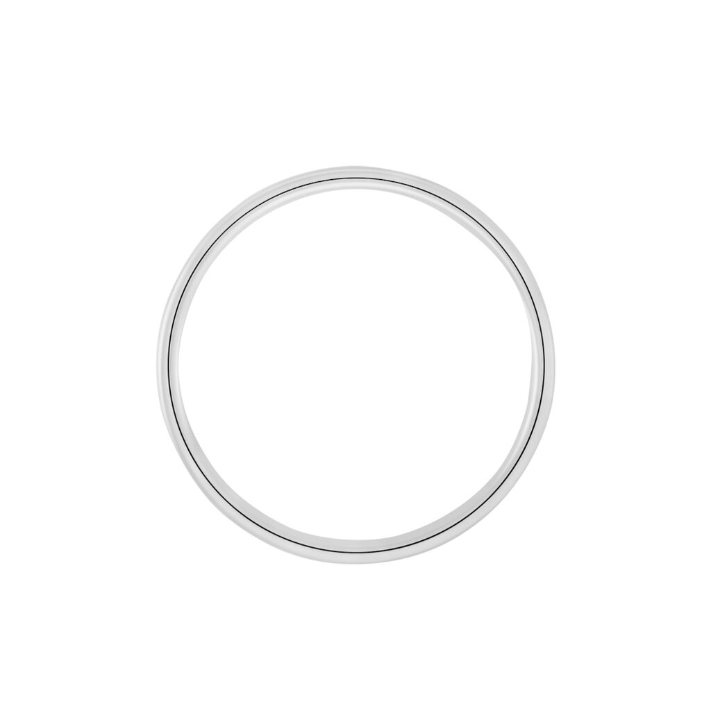Alliance Ikhlas Ruban Plat Argent Blanc - Alliances Homme | Histoire d'Or