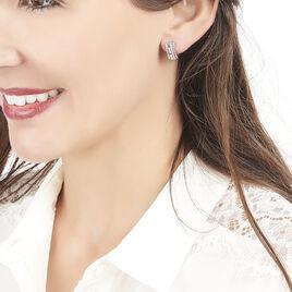 Boucles D'oreilles Puces Rock Or Blanc Diamant - Clous d'oreilles Femme | Histoire d'Or