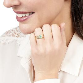 Bague Or Jaune Emeraude Et Diamant - Bagues solitaires Femme | Histoire d'Or