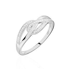 Bague Ritona Or Blanc Diamant - Bagues avec pierre Femme   Histoire d'Or