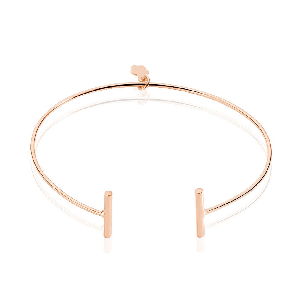 Bracelet Jonc Barrettie Argent Rose - Bracelets fantaisie Femme   Histoire d'Or