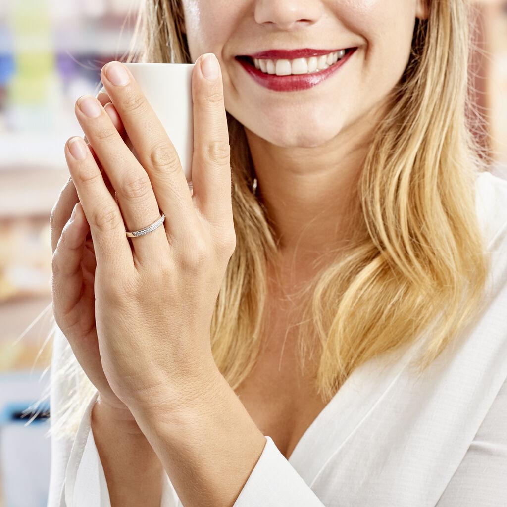 Bague Heket Argent Blanc Oxyde De Zirconium - Alliances Femme   Histoire d'Or