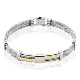 Bracelet Davilia Or Acier Bicolore - Bijoux Homme   Histoire d'Or