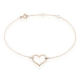 Bracelet Laila Or Rose Diamant - Bracelets Coeur Femme | Histoire d'Or