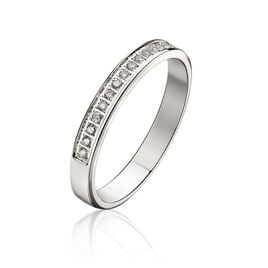 Alliance Amber Or Blanc Diamant - Alliances Femme | Histoire d'Or