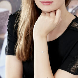 Bracelet Hildana Or Blanc Oxyde De Zirconium - Bijoux Femme | Histoire d'Or