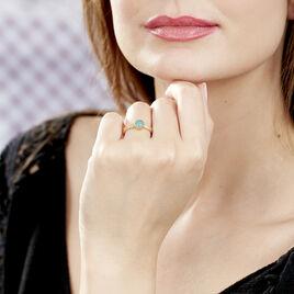 Bague Adonia Plaque Or Jaune Verre - Bagues solitaires Femme   Histoire d'Or