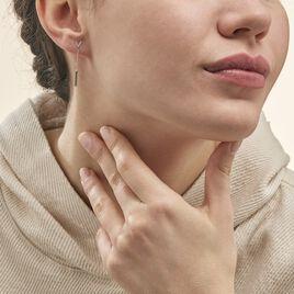 Boucles D'oreilles Pendantes Rachel Or Blanc Diamant - Boucles d'oreilles pendantes Femme | Histoire d'Or