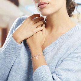 Bracelet Satia Argent Blanc Oxyde De Zirconium - Bracelets Lune Femme | Histoire d'Or