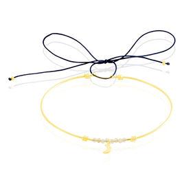 Bracelet Jonc Rabiatou Argent Jaune Citrine - Bracelets cordon Femme | Histoire d'Or
