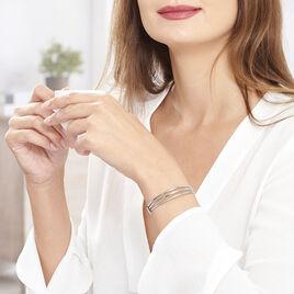 Bracelet Jonc Aglae Acier Blanc - Bracelets fantaisie Femme | Histoire d'Or