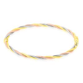Bracelet Jonc Anaisaae Torsade Or Tricolore - Bracelets joncs Femme | Histoire d'Or