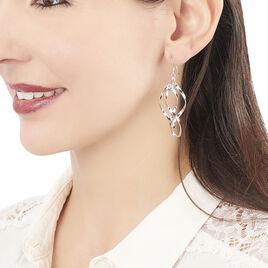 Boucles D'oreilles Pendantes Lisy Argent Blanc - Boucles d'oreilles fantaisie Femme | Histoire d'Or