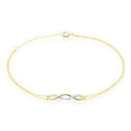 Bracelet Nucia Or Jaune Diamant - Bijoux Femme   Histoire d'Or