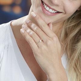 Bague Cerisette Or Jaune Diamant - Bagues avec pierre Femme   Histoire d'Or