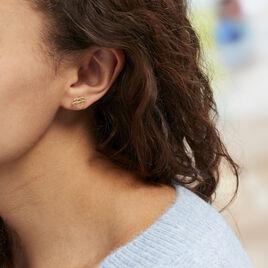 Boucles D'oreilles Puces Origami Or Jaune - Clous d'oreilles Femme | Histoire d'Or