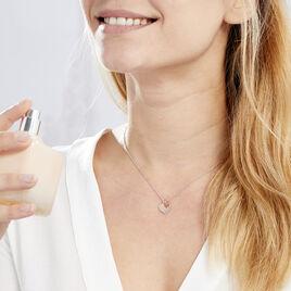 Collier Iella Argent Bicolore - Colliers Coeur Femme | Histoire d'Or