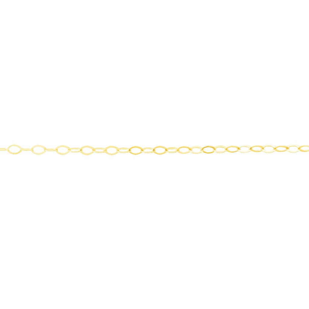Chaîne De Cheville Maille Forçat Or Jaune - Chaînes de cheville Femme   Histoire d'Or