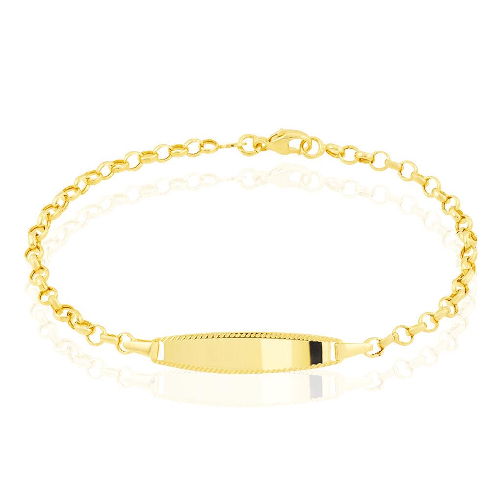 Bracelet Identité Marcel Maille Jaseron Or Jaune - Bracelets Communion Enfant   Histoire d'Or