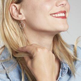 Boucles D'oreilles Pendantes Tanema Argent Blanc - Boucles d'oreilles fantaisie Femme   Histoire d'Or