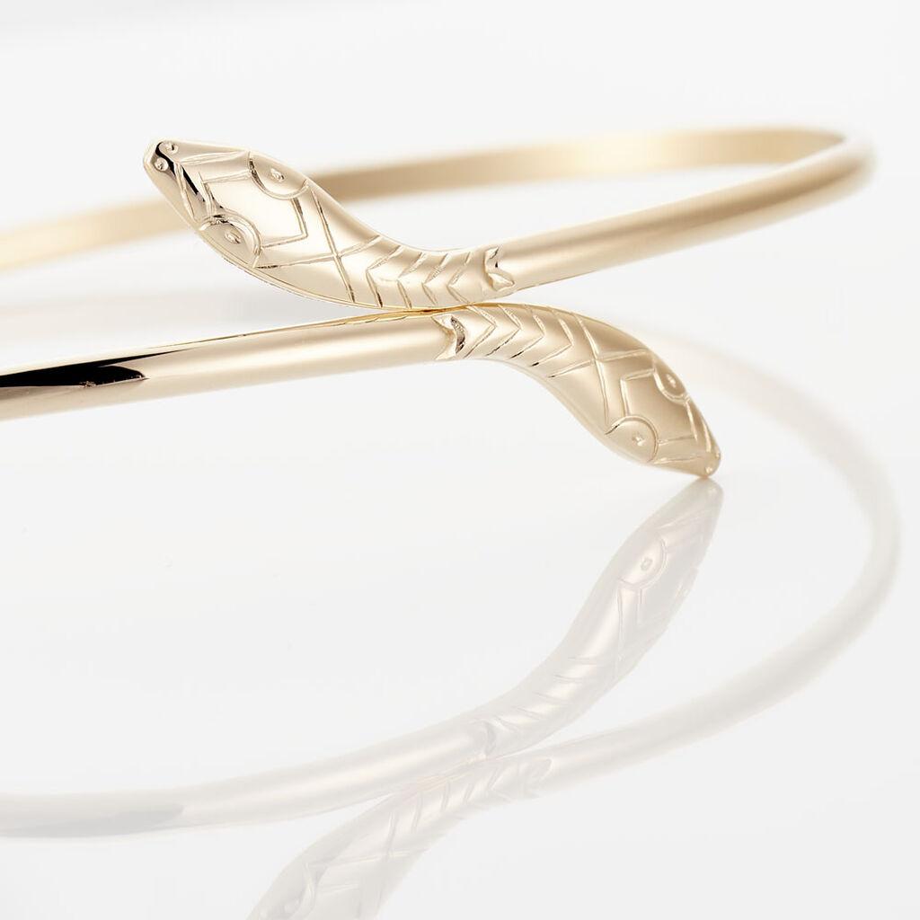 Bracelet Jonc Nalah Plaque Or Jaune - Bracelets fantaisie Femme | Histoire d'Or