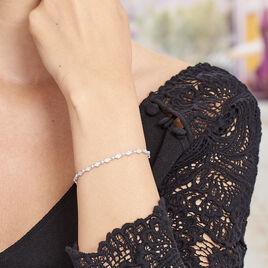 Bracelet Joanie Argent Blanc Oxyde De Zirconium - Bijoux Femme   Histoire d'Or