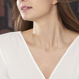 Collier Or Jaune Cœur Et Diamants 42cm - Bijoux Femme | Histoire d'Or