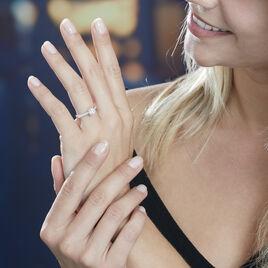 Bague Solitaire Laetitia Or Blanc Diamant Synthetique - Bagues solitaires Femme   Histoire d'Or