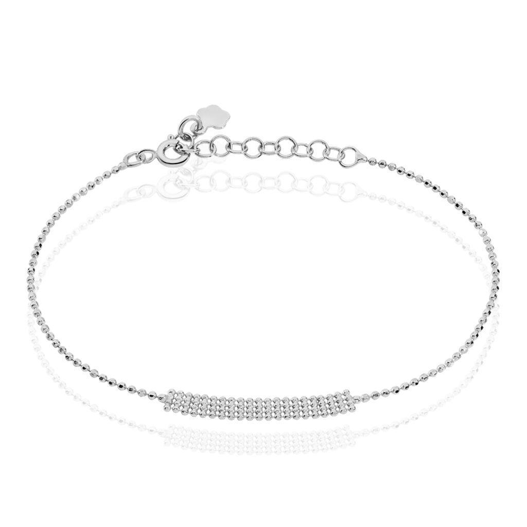 Bracelet Capucine Argent Blanc - Bracelets fantaisie Femme | Histoire d'Or