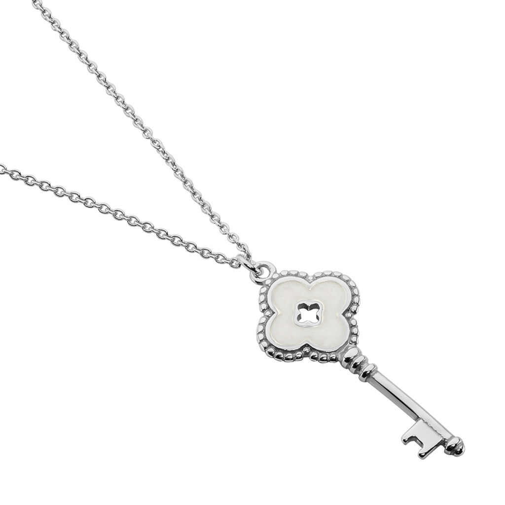 Collier Paolyna Argent Blanc - Colliers fantaisie Femme | Histoire d'Or