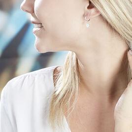 Créoles Elvyn Argent Blanc - Boucles d'oreilles créoles Femme | Histoire d'Or