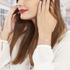 Bracelet Argent Rhodie Justine Triangle Oxyde - Bracelets fantaisie Femme | Histoire d'Or