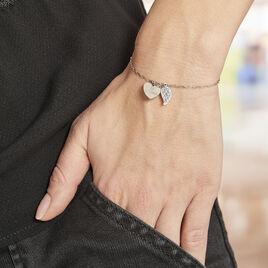 Bracelet Argent Blanc Laios - Bracelets Coeur Femme | Histoire d'Or