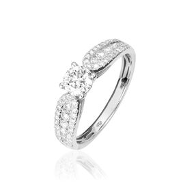 Bague Solitaire Stockholm Or Blanc Diamant - Bagues avec pierre Femme | Histoire d'Or
