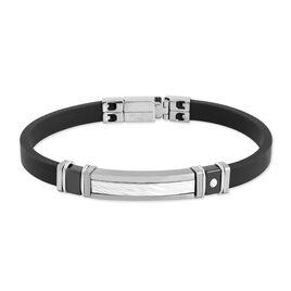 Bracelet Xuan Acier Blanc Pierre De Synthese - Bracelets fantaisie Homme   Histoire d'Or