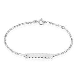 Bracelet Identite Bebe Or Blanc Estela - Bracelets Communion Enfant | Histoire d'Or