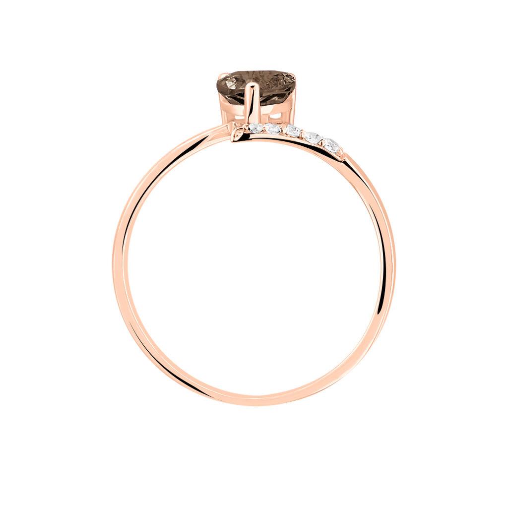 Bague Eva Or Rose Quartz Et Diamant - Bagues Coeur Femme | Histoire d'Or
