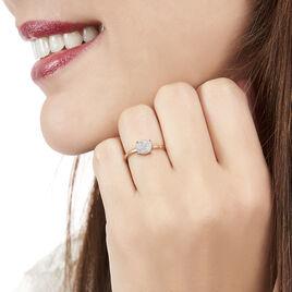 Bague Princesse Or Rose Diamant - Bagues avec pierre Femme   Histoire d'Or