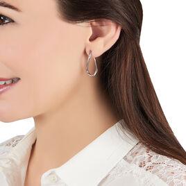 Créoles Hellen Huit Fil Rond Or Blanc - Boucles d'oreilles créoles Femme | Histoire d'Or