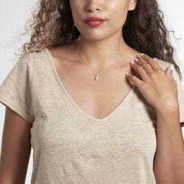 Collier Or Blanc Akli Oxyde De Zirconium - Colliers Coeur Femme   Histoire d'Or