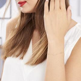 Bracelet Oleanne Or Jaune Oxyde De Zirconium - Bracelets Coeur Femme | Histoire d'Or