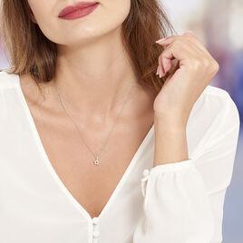 Collier Pierine Argent Blanc Oxyde De Zirconium - Colliers Etoile Femme | Histoire d'Or